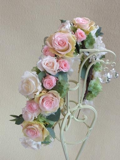 奈良プリザーブドフラワー ウェディング花かんむり